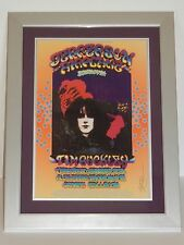 Grande Ballroom Framed Jefferson Airplane Tim Buckley Concert Poster Signed