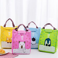 JW_ Sweet Dog Cat Thermal Insulated Lunch Box Pouch Fruit Container Picnic Bag