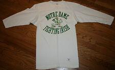 Notre Dame Fighting Irish Jersey Shirt Men Small 50/50 Vintage Champion Blue Bar