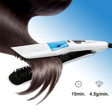 Steam Hair Straightener Infusion Straightening Iron Brush Comb UK PLUG Wet/dry