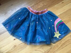 Hanna Andersson girls Shooting Star Tulle skirt 110 size 5-6