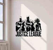 Justice League Wall Decal Superhero Decor Superman Vinyl Sticker Art Poster 774