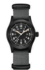 New Hamilton Khaki Field Mechanical Black Dial NATO Strap Men's Watch H69409930