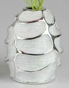 """40 cm Tisch-Vase Röhren-Vase silber  /""""Stella/"""" Breit"""