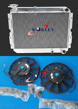 3 ROW ALUMINUM RADIATOR +FANS FOR TOYOTA LANDCRUISER 60 SERIES HJ60 HJ61 HJ62 MT