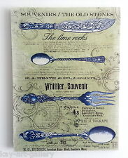 Wall Picture Plaque , Vintage Retro style Handmade / Cutlery / Decoupage