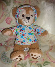 Disney Parks Duffy Bear Plush Tan 2011 w Print Hoodie Hidden Mickey Mouse