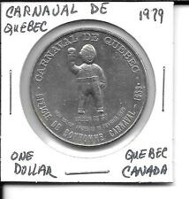 (J) 1979 UNC 1 Dollar Canada Carnaval De Quebec Trade Dollar