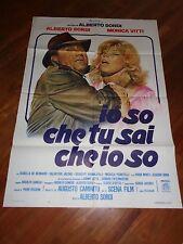 MANIFESTO,IO SO CHE TU SAI CHE IO SO, ALBERTO SORDI, MONICA VITTI  1982