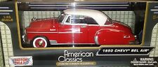 1950 Chevy Bel Air Hard Top Coupe Die-cast Car 1:24 Motormax 8 inch Red