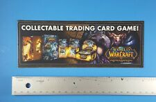 World of Warcraft Collectible Card Game Store Display Promo Shelf-talker WOW!