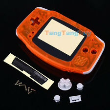 Transparent Orange Housing Shell Case Cover for Nintendo Game boy Advance New