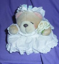 "SMALL,   'HALLMARK"" ""FOREVER FRIENDS BRIDE TEDDY BEAR,GREAT CONDITION (#B55-41)"