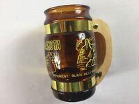 South Dakota Wood Handle Mug VTG Cup Glass Beer Drink Mount Rushmore Black Hills
