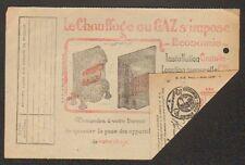 """PARIS (IX° Arrt.) Abonnement """"Société du GAZ DE PARIS"""" en 1924 / POELE CHAUFFAGE"""