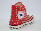 Converse all star Hi borchie teschi scarpe blu - nero -grigio-rosso artigianali