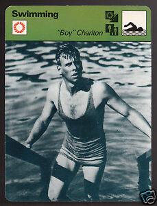ANDREW BOY CHARLTON Swimming Australia Swimmer 1978 SPORTSCASTER CARD 49-24A