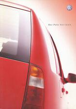 VW Polo Variant Prospekt 4/01 2001 Autoprospekt 52 S. Broschüre brochure catalog
