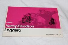 Original Harley Davidson 1972 Leggero Owners Manual NOS 99477-72 (90)