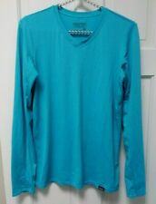 Patagonia Daily Capilene BaseLayer Mens Small Turquoise Long sleeve v neck
