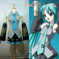 Vocaloid Hatsune Miku Cosplay Formula Costume Club Dresses Sets Halloween