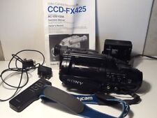 Sony Video 8 Ccd-Fx425 Camcorder & Accessories (Tested)