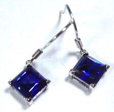 Tanzanite Drop/Dangle Treated Fine Gemstone Earrings