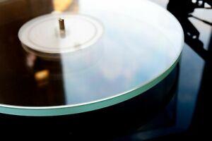 LCV Clear Acrylic Platter Mat 2mm Turntable Mat Project/Rega/Thorins/Numark/Linn