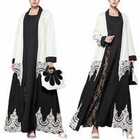Muslim Embellished Colour Block Casual Evening Party Long Festival Maxi Dress