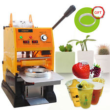 Semi-Automatic Cup Sealing Machine Plastic Cup Sealer Milk Bubble Tea 220V 315W
