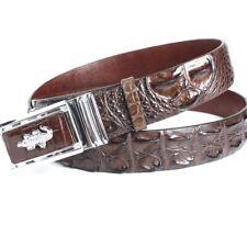 Luxury Real Alligator Crocodile Leather Skin Men's Belt UnJointed - W 1.5 inch