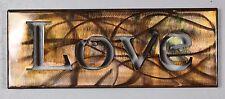 Metal Wall Art Canvas Love --Copper/Bronze