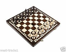 Brand New ♞Hand Crafted Wooden Chess And Draughts Set2 36cm x 36cm ♖