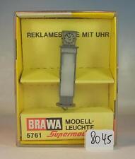 BRAWA Spur H0 1/87 Nr. 5761 Modell-Leuchte Reklamesäule mit Uhr OVP #8045
