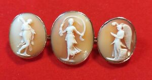 Antique 9ct Gold Cameo Brooch