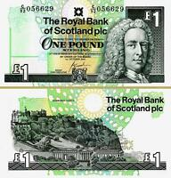 SCOTLAND 1 POUND 1-10-2001 UNCIRCULATED P-351