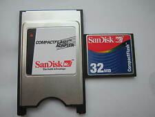 SANDISK 32MB Compact Flash +ATA PC card PCMCIA Adapter JANOME Machines