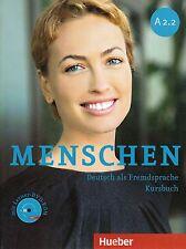 Hueber MENSCHEN A2.2 Deutsch als Fremdsprache KURSBUCH mit Lerner DVD-ROM @New@