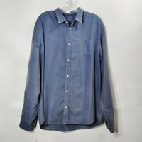 Frank and Eileen Blue Button Down Shirt Long Sleeve Collared Mens Sz X-Large XL