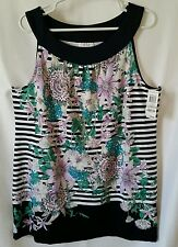 NWT MSRP $69.50 Charter Club Women Sleeveless Tunic Top Plus Size 1X Floral