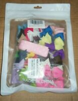 """40 pc set QT GIRL 3"""" BABY HAIR BOWS WITH ORGANIZER MULTI-COLOR SET unsealed nip"""