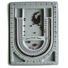 Flocked Bead Board Necklace Design Tray Organizer Jewelery Making Top