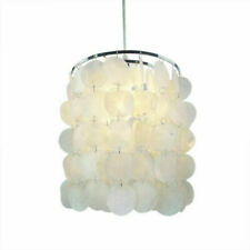 DIY Modern Satin Nickel Natural Seashell Pendant Lamp Shell Light Home Fixture
