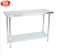 """Stainless Steel Prep Table Commercial Work Restaurant Shelf 18 Gauge 18"""" x 48"""""""