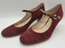 Ex-Display Rachel Simpson Red Suede Wedding Bridal Shoes Heels Size UK4 /EU37
