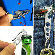 Useful Pocket EDC Gear Suspension Clip Multi Tool Hex Wrench Bottle Opener Kit