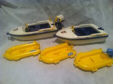 Playmobil Vintage RETIRED 3009 Twister Pm 659 Ax 317 Rescue Motor Raft Boat 3574
