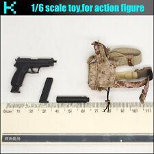 Y21-26 1/6 scale ES 26030C Seals Frozen Night Assault-226 Pistol & Holster left
