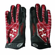 Arizona Cardinals L Under Armour Warp Speed Football Sticky Receiver Gloves New
