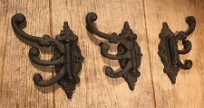 "Cast Iron Swivel Wall Hook Rustic 6 1/2"" tall (Set of 3) Home Decor 0170S-01758"